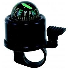 Звонок алюм./пластик с компасом 360º черный