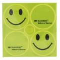Стикеры светоотражающие 2смайлика+2лого желтые 3M SCOTCHLITE M-WAVE