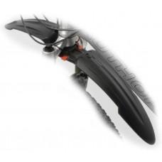"Крыло пластик. X-Bow перед. б/съемн. 24-26"" в трубу вилки черное AUTHOR"