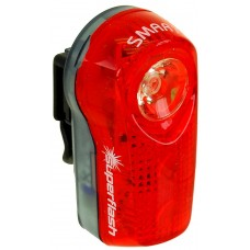 Фонарь задний 3д (1 мощн. 0,5 W)/2ф красный до 1км  влагозащ. с батар. SMART