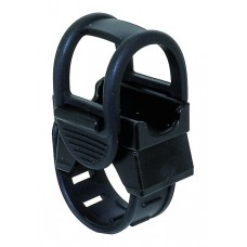 Держатель универсальный для фары/насоса, с резиновым жгутом, крепление на руль, черный